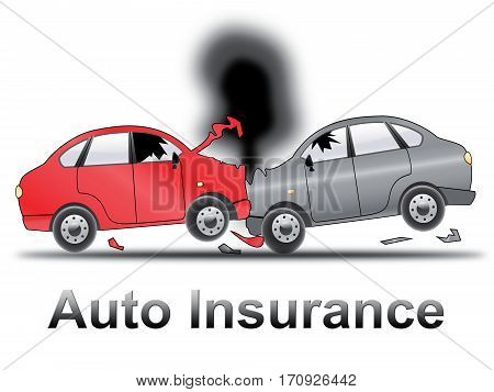 Auto Insurance Shows Car Policy 3D Illustration
