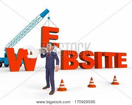Website Online Meaning Browsing Internet 3D Rendering