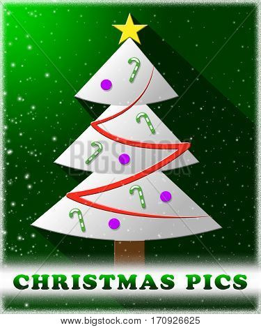 Christmas Pics Means Xmas Images 3D Illustration