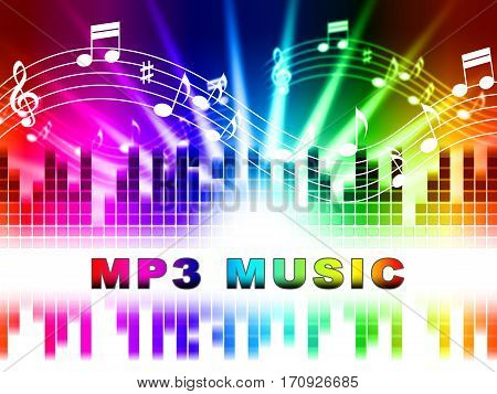 Mp3 Music Shows Melody Listening And Sound Tracks