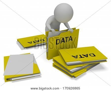 Data Folders Means Database Files 3D Rendering