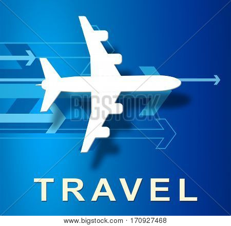 Air Travel Shows Commercial Airlines And Aircrafts