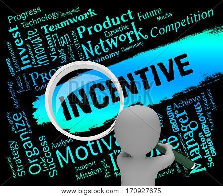 Incentive Words Meaning Bonus Rewards 3D Rendering