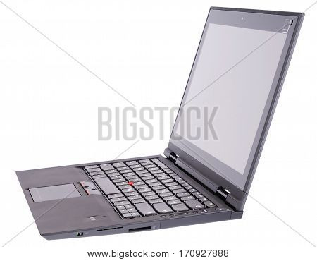 Open laptop (notebook) isolated on the white