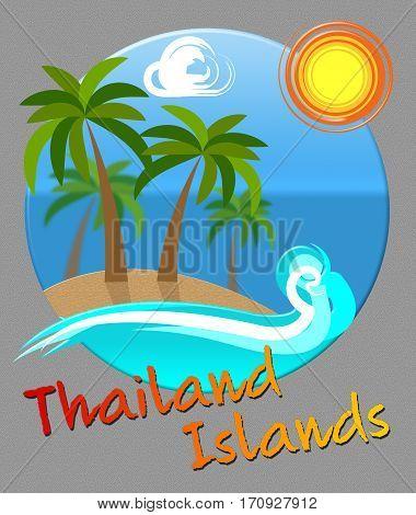 Thailand Islands Shows Thai Beach Getaways In Asia