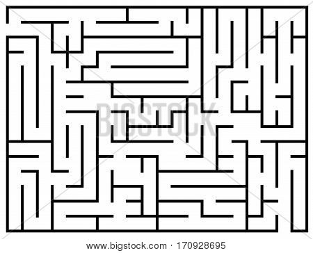 Kids riddle, maze puzzle, labyrinth vector illustration. Labyrinth game for brain, educational game preschool for development