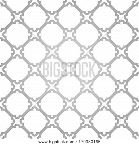 Seamless ornament in arabian style. Pattern for wallpapers and backgrounds. Silver and white pattern
