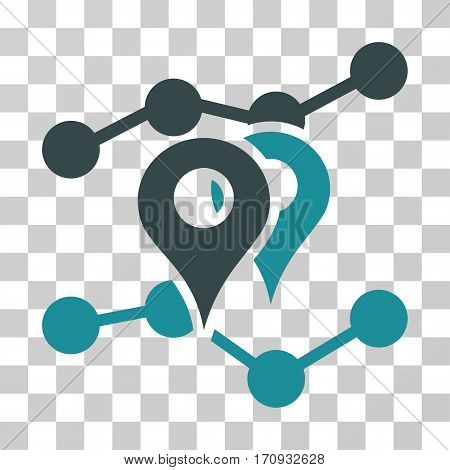Geo Trends icon. Vector illustration style is flat iconic bicolor symbol soft blue colors transparent background. Designed for web and software interfaces.