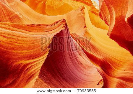 Lower Antelope Canyon In The Navajo Reservation Near Page, Arizona Usa
