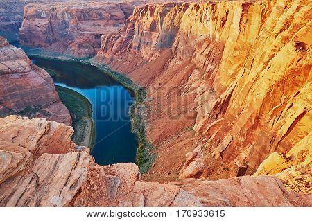 Horseshoe Bend In The Colorado Canyon, Arizona, Usa