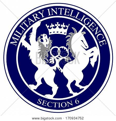 The logo of the British Military Intelligence division 6