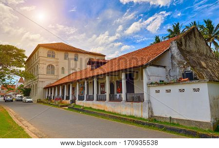 GALLESRI-LANKA/JANUARY 302017: The National Museum in Galle