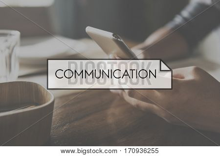 Browsing Communication Connection Technology Concept