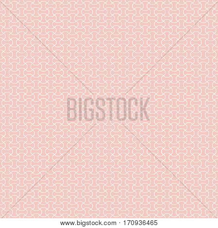 Seamless geometric pattern for your designs and backgrpounds. Modern ornament with repeating elements. Pink and white pattern