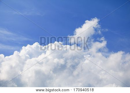blue sky with cloud and raincloud beautiful art of nature. copy space for add text