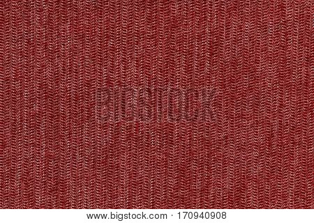 abstract texture and background of textile material or fabric of red color