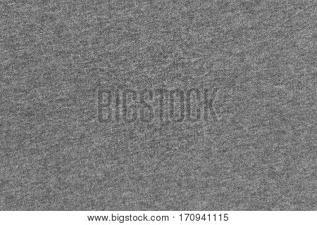 abstract background and texture of jersey or knitted textile fabric of gray color