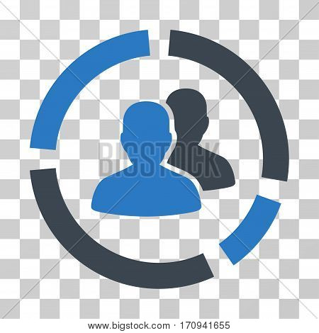 Demography Diagram icon. Vector illustration style is flat iconic bicolor symbol smooth blue colors transparent background. Designed for web and software interfaces.