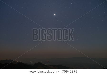 Night sky with lot of shiny stars natural astro background