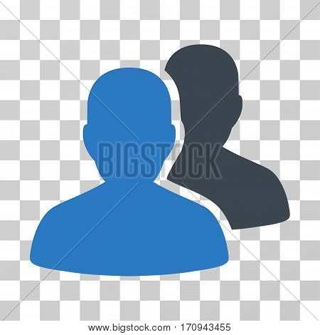 User Accounts icon. Vector illustration style is flat iconic bicolor symbol smooth blue colors transparent background. Designed for web and software interfaces.
