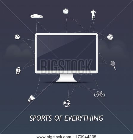Sports of everything - sports internet of things with monitor control