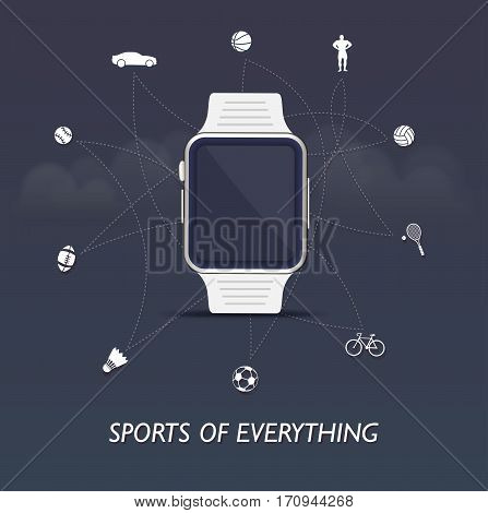 Sports of everything - sports internet of things with smartwatch control