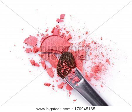 Pink Crashed Eyeshadow For Makeup As Sample Of Cosmetic Product