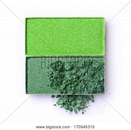 Green Crushed Eyeshadow For Makeup As Sample Of Cosmetic Product