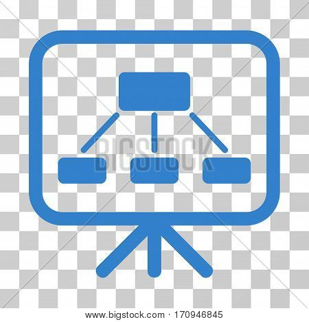Scheme Demonstration Screen icon. Vector illustration style is flat iconic symbol cobalt color transparent background. Designed for web and software interfaces.