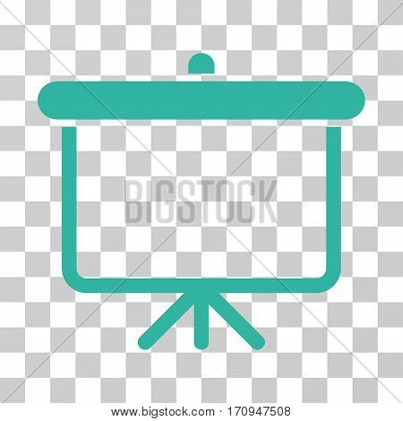 Projection Board icon. Vector illustration style is flat iconic symbol cyan color transparent background. Designed for web and software interfaces.