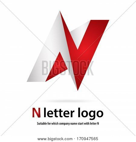 3d n letter logo 100% vector fully editable and resizable suitable for which letter is begining with letter n