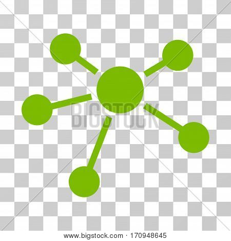 Connections icon. Vector illustration style is flat iconic symbol eco green color transparent background. Designed for web and software interfaces.