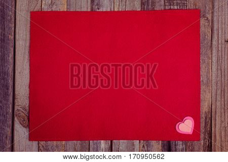 Valentine's Day Red Fleece Background