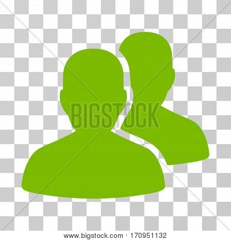 User Accounts icon. Vector illustration style is flat iconic symbol eco green color transparent background. Designed for web and software interfaces.
