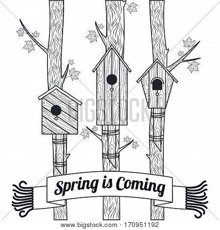 Spring Vector Card