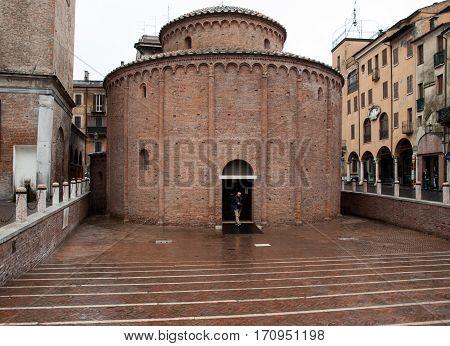 MANTUA, ITALY - MAY 2, 2016: Rotonda di San Lorenzo in Mantua. Italy