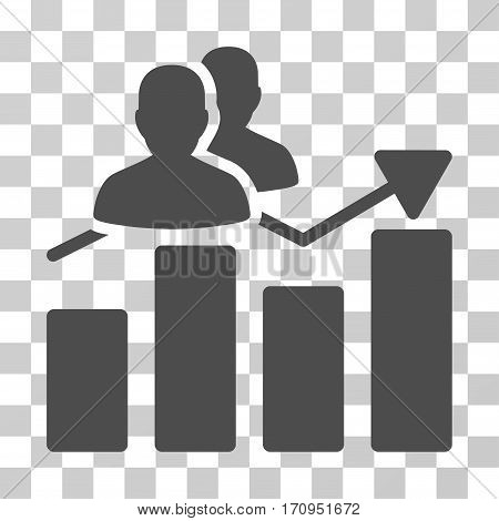 Audience Graph icon. Vector illustration style is flat iconic symbol gray color transparent background. Designed for web and software interfaces.