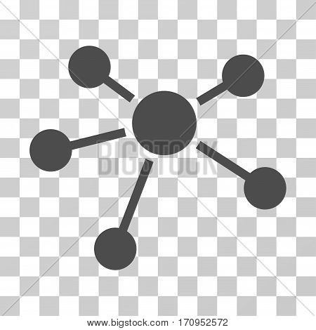 Connections icon. Vector illustration style is flat iconic symbol gray color transparent background. Designed for web and software interfaces.