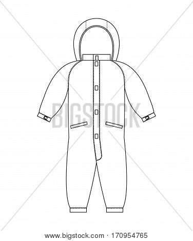 Rompers Template Scheme. Childrens Clothing Line Style