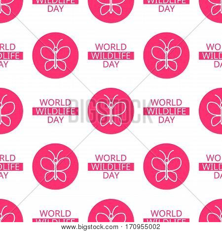World Wildlife Day Seamless Pattern