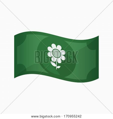 Isolated Bank Note With A Flower
