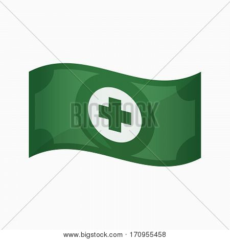 Isolated Bank Note With A Round Pharmacy Sign
