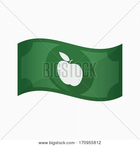 Isolated Bank Note With An Apple