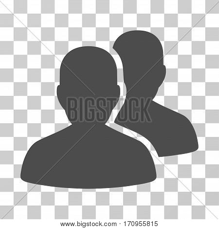 User Accounts icon. Vector illustration style is flat iconic symbol gray color transparent background. Designed for web and software interfaces.