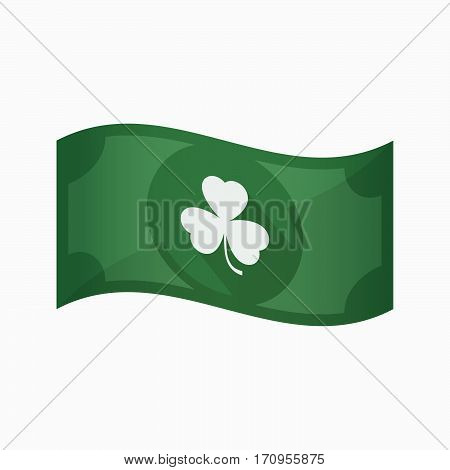 Isolated Bank Note With A Clover