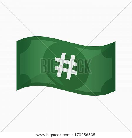 Isolated Bank Note With A Hash Tag