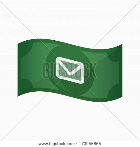 Isolated Bank Note With An Envelope