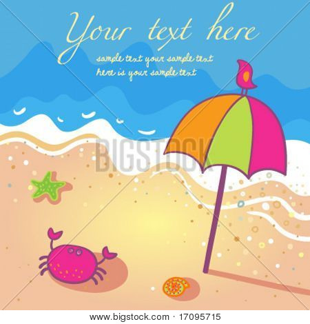 Bright and sunny summer background in vector