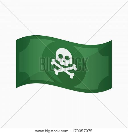 Isolated Bank Note With A Skull
