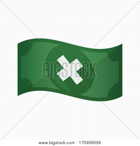 Isolated Bank Note With An X Sign